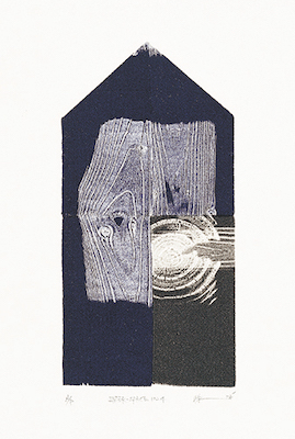 INTER SPACE 1024 .woodblock. 17x9cm(image). 2004.