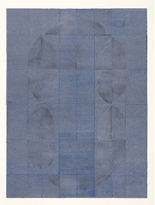 Folding and Unfolding 1705 IV, woodblock, 48.5X36cm(image), 70x49cm(paper), 2017.